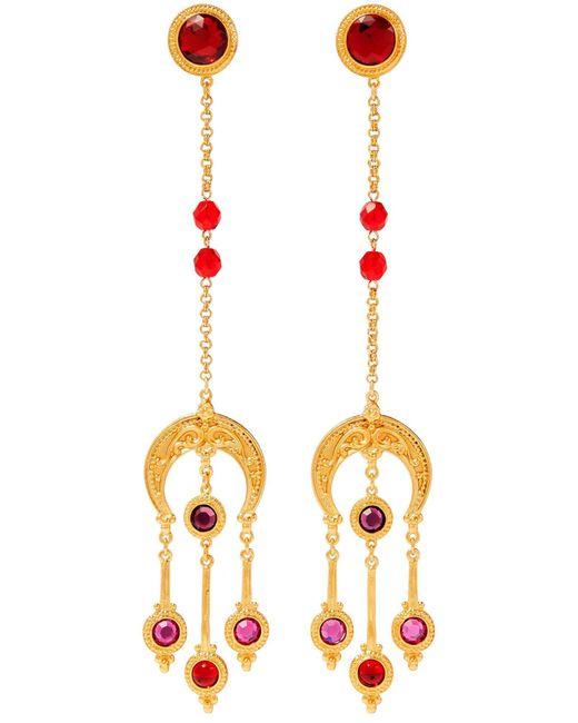 Boucles d'oreilles Ben-Amun en coloris Red