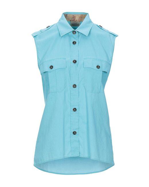 Alviero Martini 1A Classe Camicia da donna di colore blu