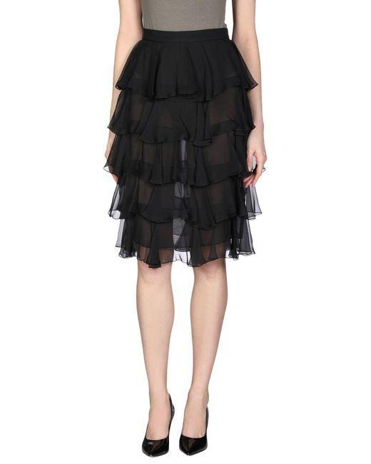 Balmain Black 3/4 Length Skirt