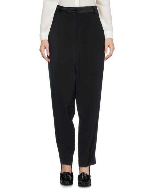 L'Autre Chose Black Casual Pants