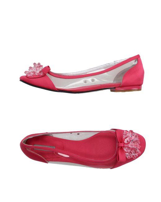 Apepazza - Pink Ballet Flats - Lyst