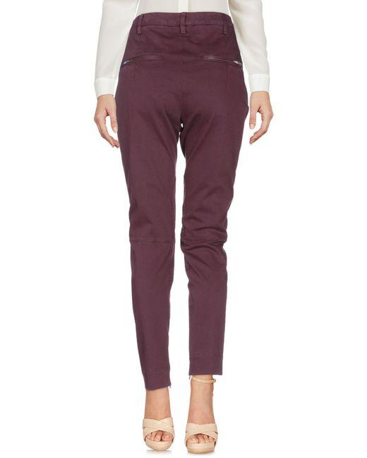 Dondup Pantalon femme de coloris violet 8A4Ac