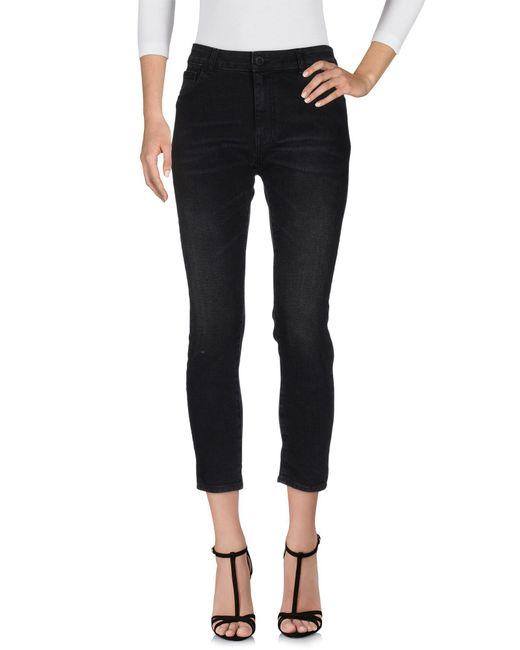 Space Style Concept - Black Denim Pants - Lyst