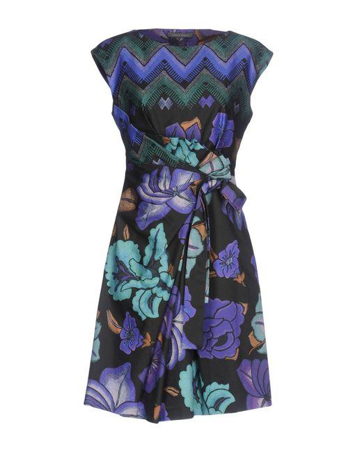 Alberta Ferretti - Purple Short Dresses - Lyst