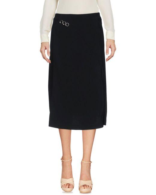 Mugler - Black Knee Length Skirt - Lyst