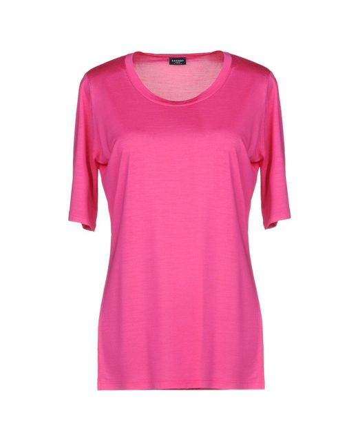 Snobby Sheep T-shirt da donna di colore rosa