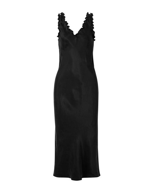 Tibi Black Midi-Kleid