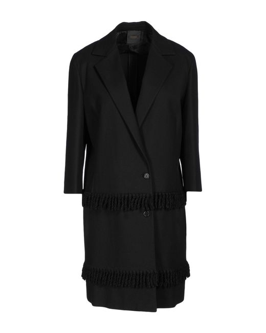Agnona Black Overcoat