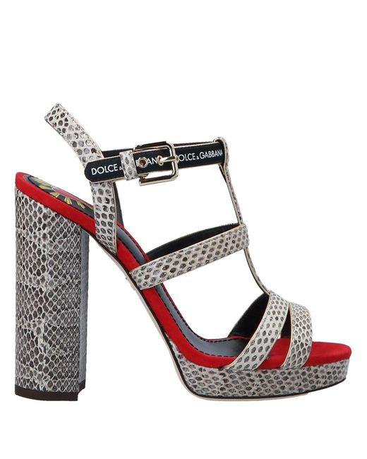 Dolce & Gabbana Natural Sandale