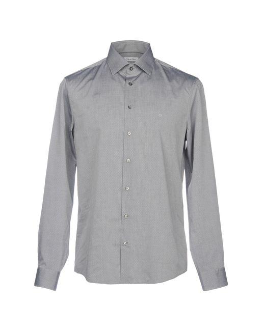 CALVIN KLEIN 205W39NYC - Gray Shirt for Men - Lyst