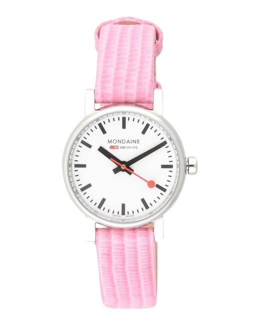 Mondaine - Pink Wrist Watch - Lyst