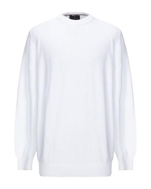 Pullover di Les Copains in White da Uomo