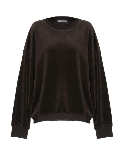 Vince - Black Sweatshirt - Lyst