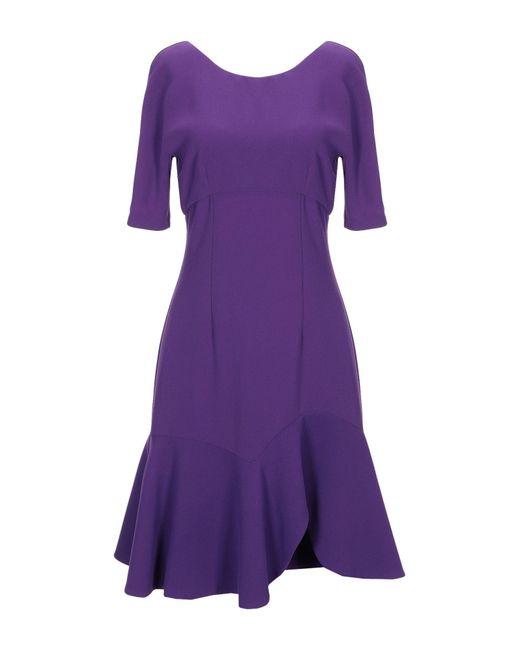 Space Style Concept Purple Short Dress