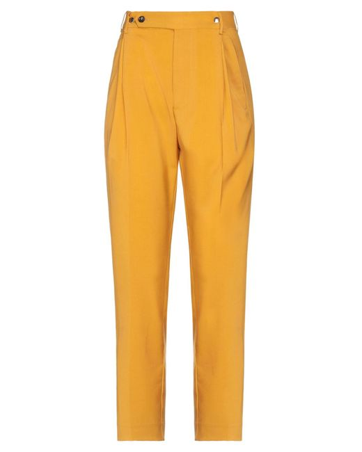 Mauro Grifoni Yellow Casual Trouser