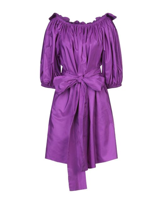Stella McCartney Robe aux genoux femme de coloris violet ENbFc