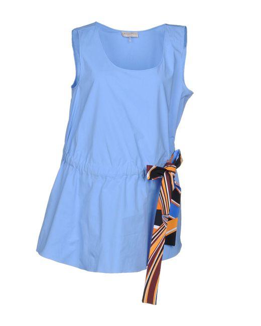 Emilio Pucci Top da donna di colore blu