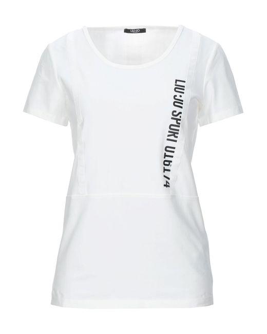 Liu Jo T-shirt da donna di colore bianco