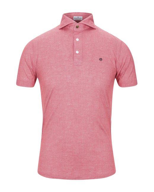 Sonrisa Polo da uomo di colore rosa