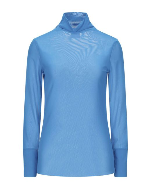 ..,merci T-shirt da donna di colore blu