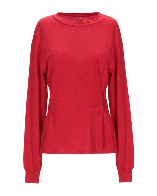 ..,merci T-shirt da donna di colore rosso