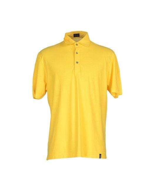 Drumohr - Yellow Polo Shirt for Men - Lyst