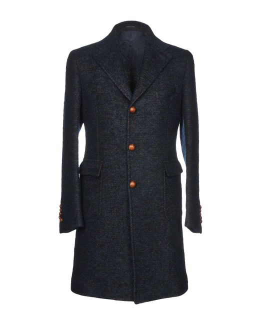 Tagliatore - Blue Coat for Men - Lyst