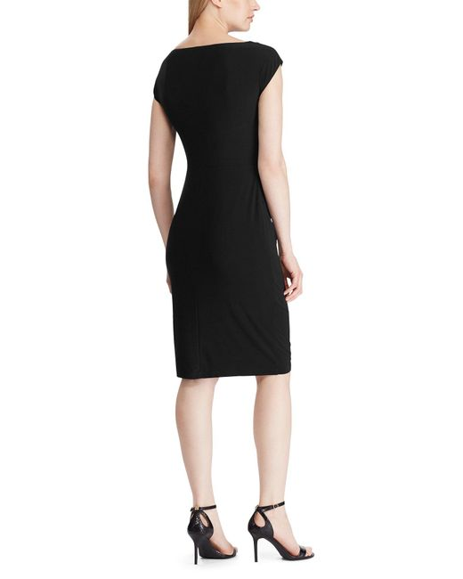 Robe aux genoux Lauren by Ralph Lauren en coloris Black