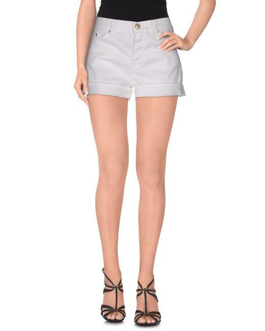 Dondup - White Denim Shorts - Lyst