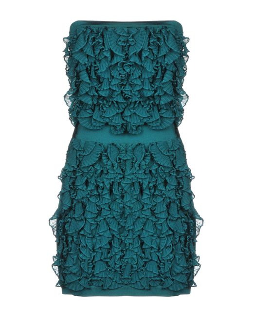 Balmain - Green Short Dress - Lyst