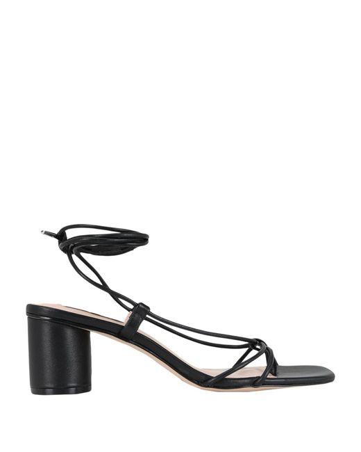 Steve Madden Black Toe Post Sandal