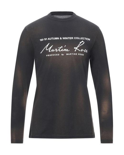 Martine Rose T-shirt da uomo di colore nero