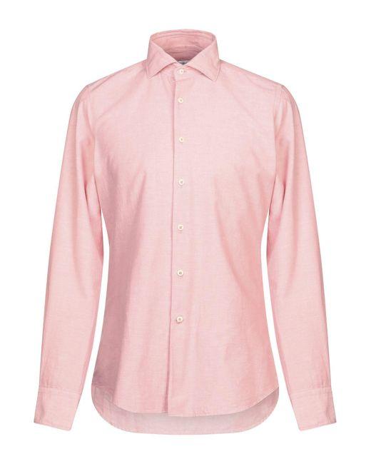 Glanshirt Camicia da uomo di colore rosa