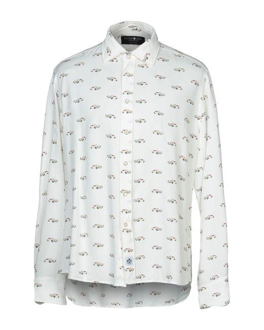Hydrogen Camicia da uomo di colore bianco