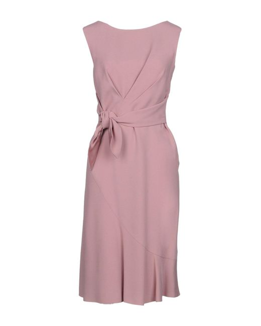 Alberta Ferretti - Pink Knee-length Dress - Lyst