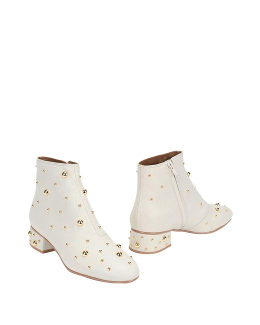 See By Chloé White Ankle Boots
