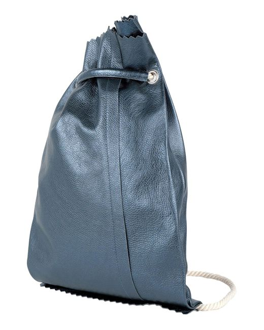 MM6 by Maison Martin Margiela Blue Backpacks & Fanny Packs