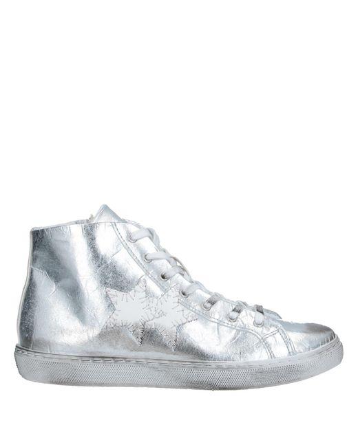 2Star Sneakers abotinadas de mujer de color metálico