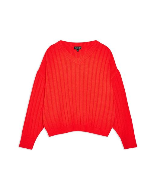 Pullover di TOPSHOP in Red