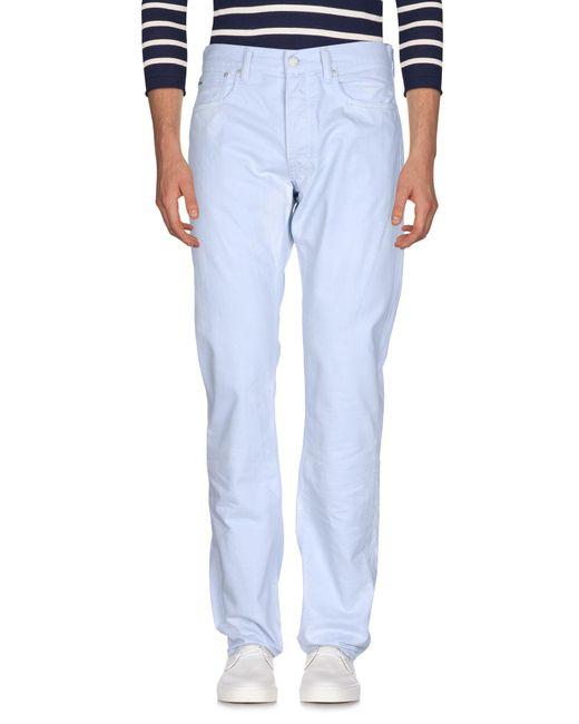 Ralph Lauren Black Label - Blue Denim Trousers for Men - Lyst