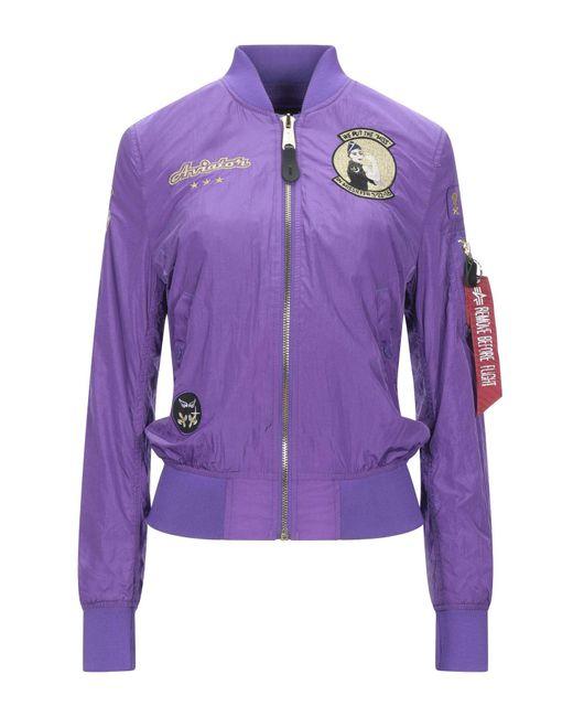 Alpha Industries Purple Jacket