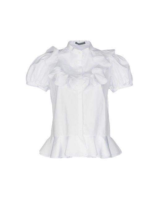 Alexander McQueen Camicia da donna di colore bianco