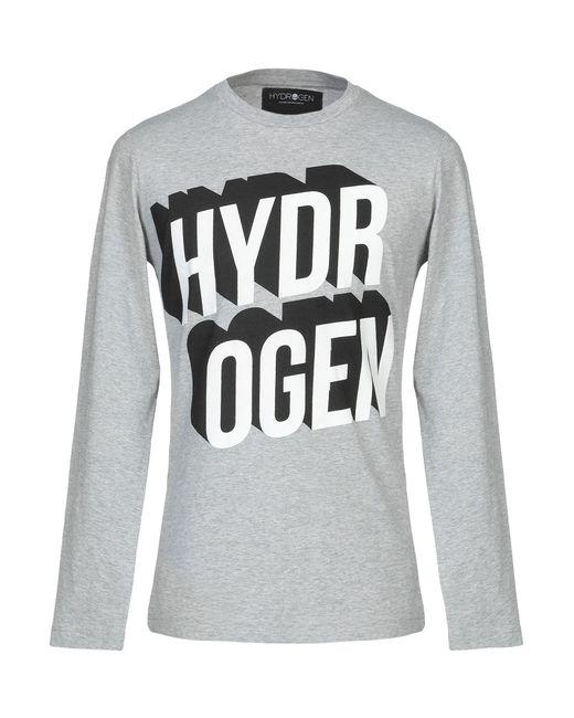 Hydrogen T-shirt da uomo di colore grigio