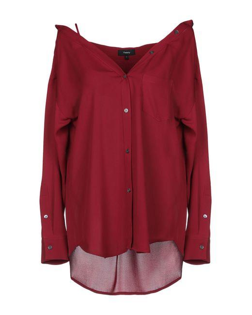 Theory Camicia da donna di colore rosso