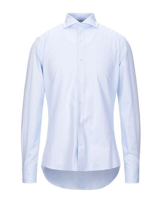 Les Copains Camicia da uomo di colore blu