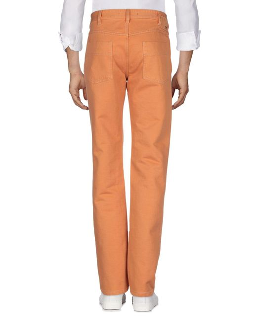 Incotex Pantalon en jean homme de coloris orange pBHxX