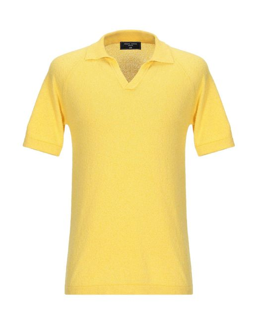 Roberto Collina Yellow Jumper for men
