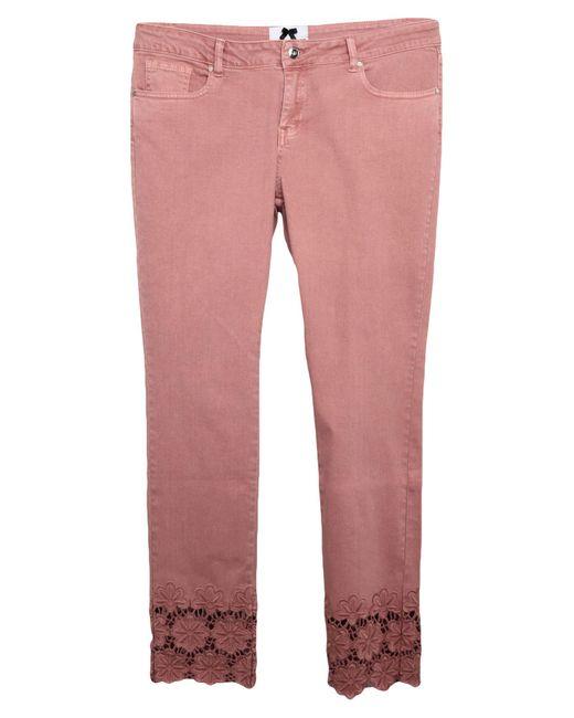 No Secrets Pink Denim Trousers