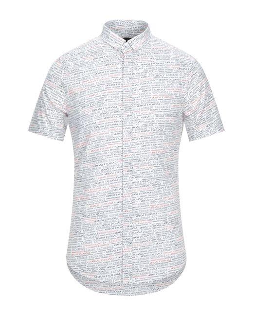 Camisa Armani Exchange de hombre de color White