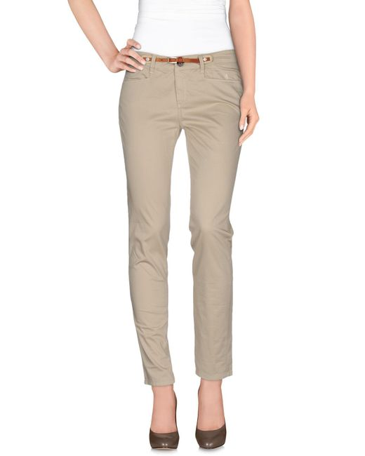 Jeckerson - Natural Casual Trouser - Lyst